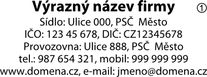 vzor otisku razítka Colop printer 40